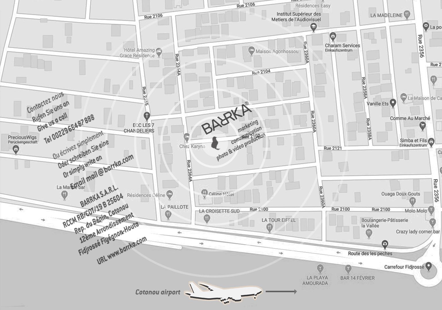 Barrka SARL se trouve à Cotonou Fidjrossé.